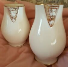 Victorian  cream and gold Jugs Spout and Handle have faces