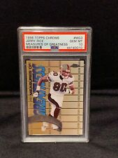 1998 Topps Chrome Measures of Greatness #MG3 - JERRY RICE - PSA 10 Gem Mint
