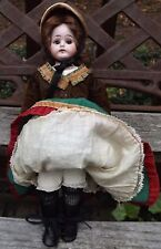"Antique 6.5"" Bisque Doll Stockings Black Rayon Open Weave DOLL HOSE SOCKS"