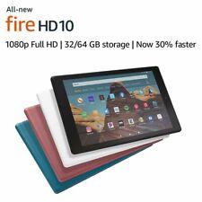 """2019 AMAZON FIRE HD10 WiFi TABLET 10.1"""" 32Gb 9th Gen-BLACK WHITE BLUE PLUM hd 10"""