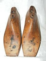 ANTIQUE FRENCH SHOE LAST FORMS MOLDS SHAPERS COBBLERS TREEN METAL BASE WOMEN'S L
