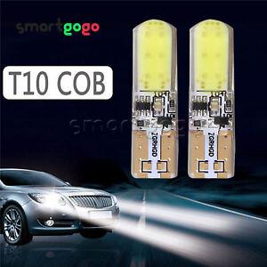 2PCS For T10 194 W5W COB LED Car Silica Flash Light Bulb Lamp White 12V BSG