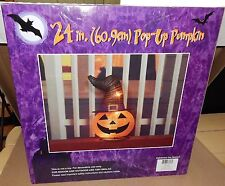 """Halloween 24"""" Pop Up Pumpkin Has 3 C7 Lights Collapsible With Metal Stakes 123C"""