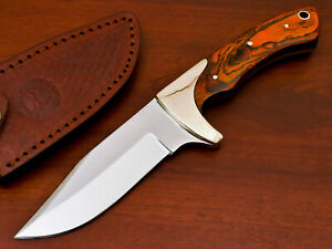 RARE HAND FORGED STAINLESS STEEL HUNTING KNIFE-HARD WOOD HANDLE-PK-1796