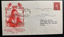 1949 Ottawa Canada First Day Cover Fdc King George Vi Birthday To Usa