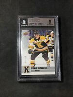 2019-20 UPPER DECK CHL SHANE WRIGHT STAR ROOKIE EXCLUSIVES JERSEY # 51/100 BGS 9
