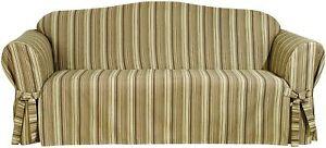 SureFit Harbor Stripe 1-Piece - Sofa Slipcover - Brown Multi (SF44410)