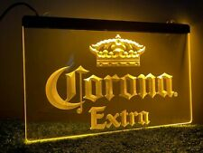 More details for corona beer yellow led light 30x20cm home neon bar sign pump pub mancave gift