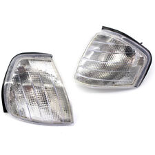 Set Clear Lens Turn Signal Corner Lamp Light For C Class W202 1994-2000