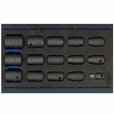 """Draper 1/2"""" Square Drive Impact Socket Set With Insert Tray 15 Piece - 63415"""