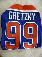 Wayne Gretzky UDA Autographed Edmonton Blue Jersey