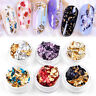 Nail Art Glitter Aluminum Foil 3D Flake Sticker UV Gel Polish Accessories
