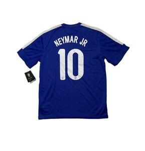 Men Brazil Away 2013 #10 NEYMAR JR Camisa Trikot Football Maglia Soccer NEW
