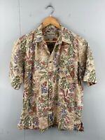 Cooke Street Honolulu Mens Vintage Short Sleeve Casual Floral Shirt Size M Brown