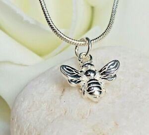 Elegant 925 Sterling Silver Solid Bumble Bee Jewellery Pendant Necklace Chain UK