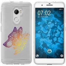 Case für HTC One X10 Silikon-Hülle Floral Wolf M3-3 + 2 Schutzfolien