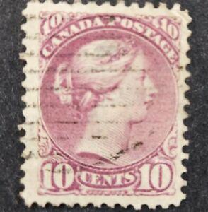Canada 1868-90, 10c. Lilac- magenta used
