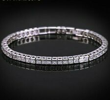 Womens Tennis Bracelets Copper Cubic Zirconia Link Chain Square Wedding Jewelry