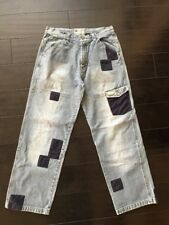 Enyce Clothing Company Mens Denim Jeans Pants With Patch Works Size 34
