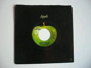 "Billy Preston That's The Way God Planned It 7"" Vinyl US 1969 Apple Single EXC NM"