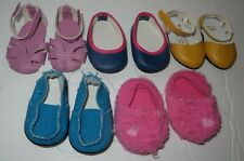 """Huge Lot Shoes for 18"""" American Girl Dolls -Authentic America girl brand"""