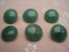 More details for antique green agate buttons - set of 6