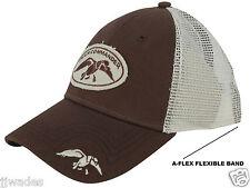 Authentic Duck Commander Flex Fit Cap / Hat Cotton Polyester Blend Brown & White