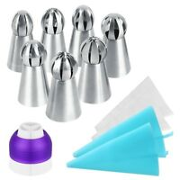 7pc Sphere Ball Russian Icing Piping Tips Nozzles Cake Decor Pastry Baking Tools