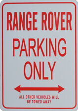 RANGE ROVER PARKING ONLY - MINIATURE FUN PARKING SIGN