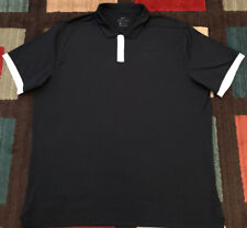Nike Golf Dri-Fit SS Polo Shirt, Men's XL, Black w/White Accents, EUC