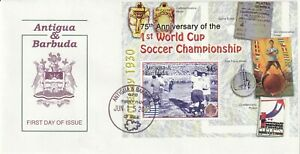 ANT & BA 15 JUNE 2005 75th WORLD CUP ANNIVERSARY MINIATURE SHEET FIRST DAY COVER