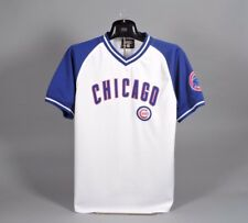 Chicago Cubs White/Royal Short Sleeve Shirt - Youth XL Nicely Embroidered
