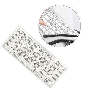 Silver Mini Korean 78 Keys Wireless Bluetooth Keyboard for iPad Stylish