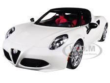 ALFA ROMEO 4C SPIDER BIANCO TROFEO/ WHITE 1/18 MODEL CAR BY AUTOART 70141