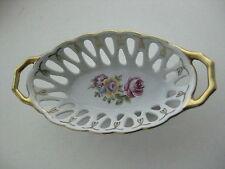 Vintage 1970 s. porcelain Jewelry basket German Martinroda Friedrich Eger & Co.