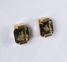 Elegantes Paar Trend Ohrclips Legierung gold Strass XXL Glas Steine Neu