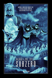 Batman & Mr. Freeze: Subzero Variant Poster Sam Gilbey xx/50