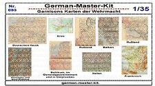 093,Diorama Zubehör Garnosons Karten der WH, 1:35, GMKT World of War II