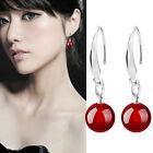 Coreano Fashion Jewelry Mujer Plata De Ley 925 Gancho Granos Pendientes Largos