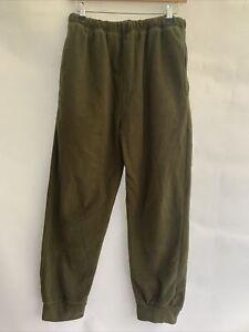 Men's Khaki Fleece Jogging Bottoms With Pockets Size Xl <RP112