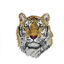 2 Applique Tiger Patches Embroidered Iron On Sewing Patch Riverbyland DIY
