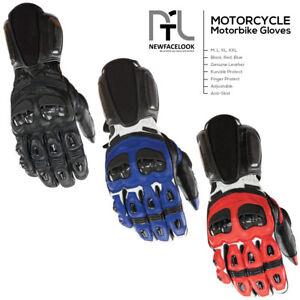 Motorcycle Gloves Leather Motorbike Waterproof Thermal Winter Summer Protection