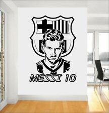 Removable Wall Stickers Messi Football Poster Room Decor Wallpaper Fan Gifts