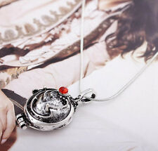 1PCS The Vampire Diaries Elena's Vervain Antique Silver Locket Pendant Necklace