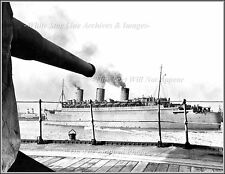 Photo: Troopship Queen Mary From Troopship Queen Elizabeth, 1943