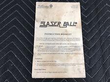 Williams Laser Ball Pinball Machine Game Operators Manual Instruction Booklet