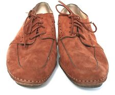 UK 4/ 4.5 Vintage tan brown suede 'Beatnik' lace-up shoes - 1960s - Deva