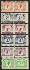 NORTHERN RHODESIA 1963 DUES SGD5/10 PAIRS IMPERF RIGHTHAND MARGIN MNH