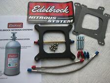 LQQK! *NEW EDELBROCK PERFORMER HOLLEY 4150 NITROUS PLATE KIT 50-65-75-85-100HP