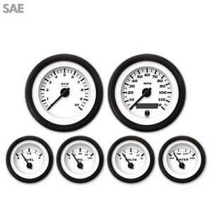 6 Gauge Set - SAE Classic, Black Modern Needles, Black Trim Rings Style Kit DIY